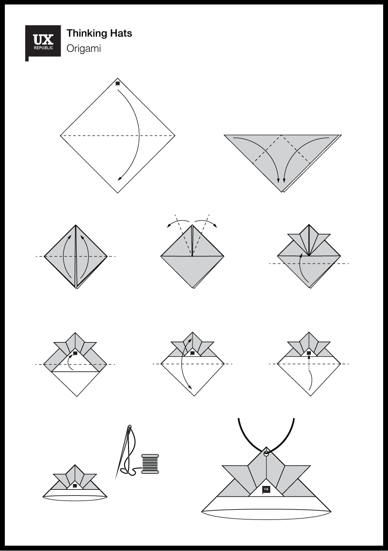 Origami Thinking Hats
