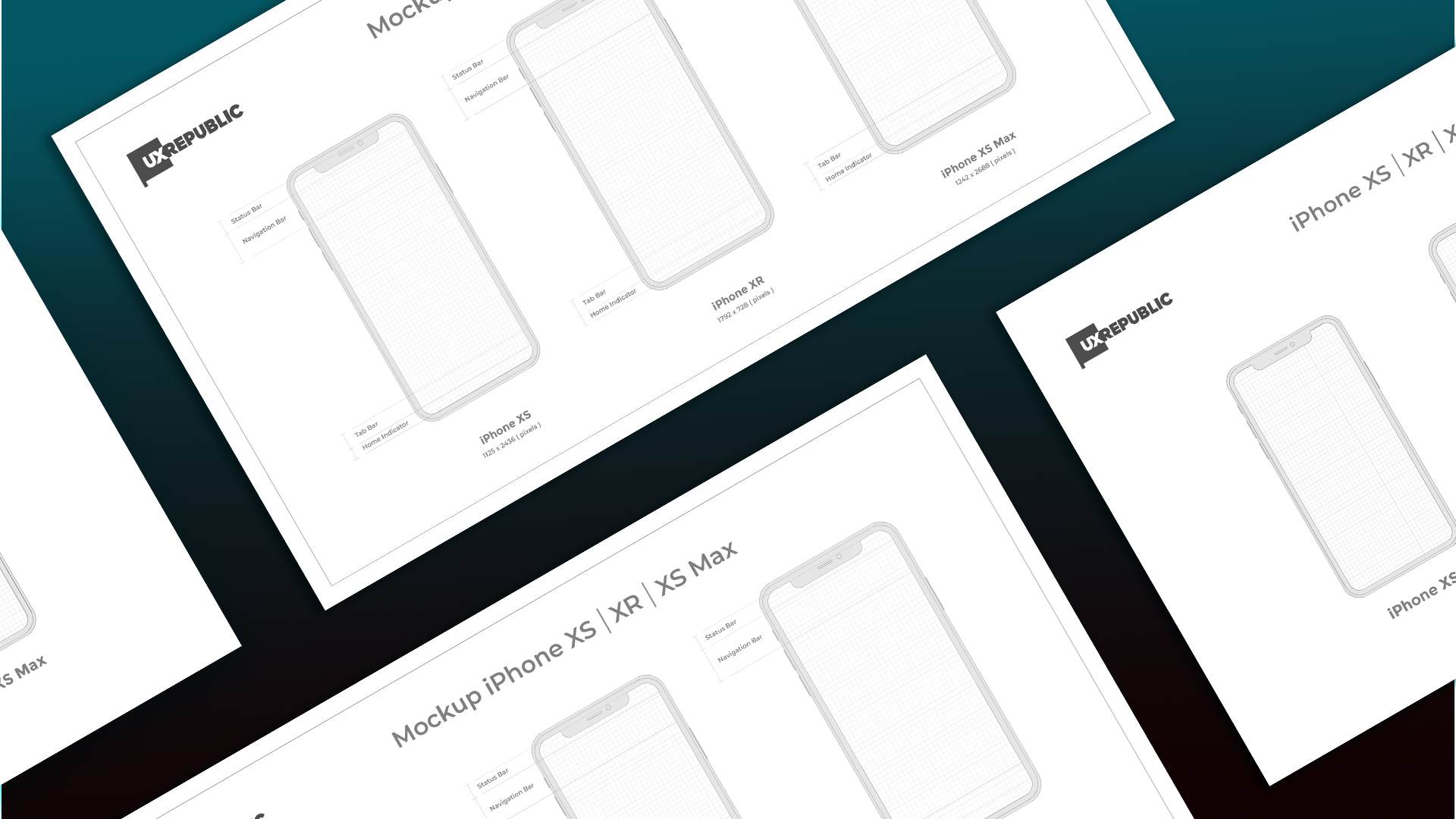 template mockup iphone